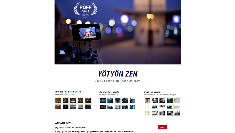 Yötyön Zen -verkkosivut